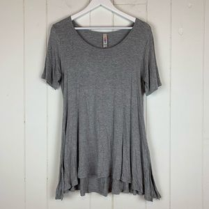 LuLaRoe Perfect T Shirt Small Solid Gray